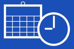 カレンダーと時計(スケジュール)のイメージ